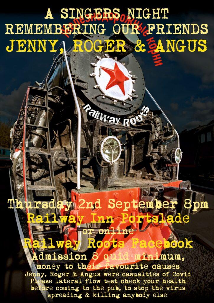 Railway Roots - Singers Night -Thurs 2nd September 2021 8pm - Railway Inn, Portslade